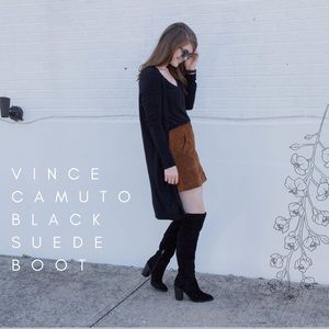 Shoes - Vince Camuto Black Suede Boot